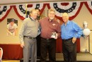 Jim Lundeend was the Over 50 Cy Young winner in 2012.  Here he receives his award from Dick Stigman (l) and Frank Quilici.
