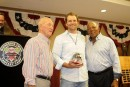 Hard throwing right-hander, Lance Anderson is recognized as the 2012 Under 50 Cy Young Award winner.  Here, Lance receives his award from Lee Stange and Tony Oliva.