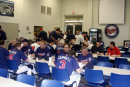 Campers fuel up for another day of baseball at one of Chef George's fabulous breakfast buffets!